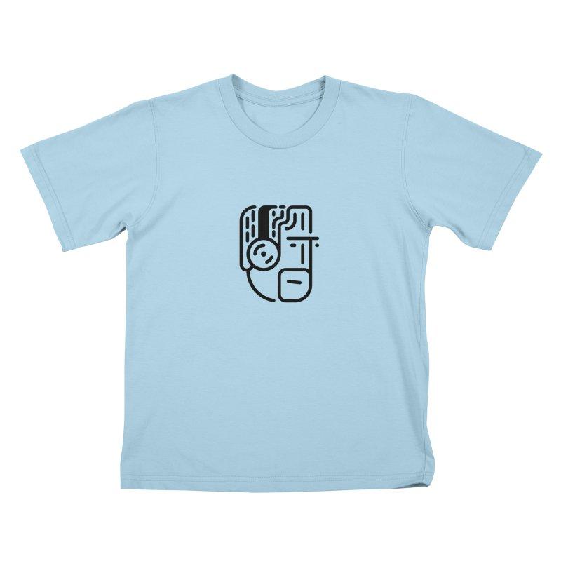 Music Head Kids T-Shirt by artojegas's Artist Shop