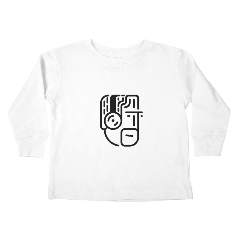 Music Head Kids Toddler Longsleeve T-Shirt by artojegas's Artist Shop