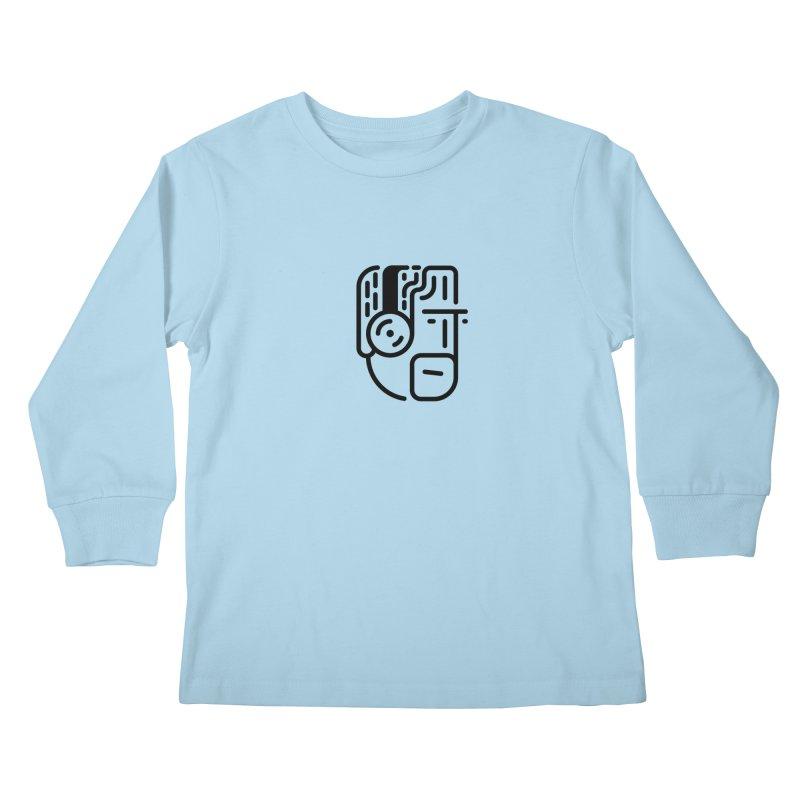 Music Head Kids Longsleeve T-Shirt by artojegas's Artist Shop