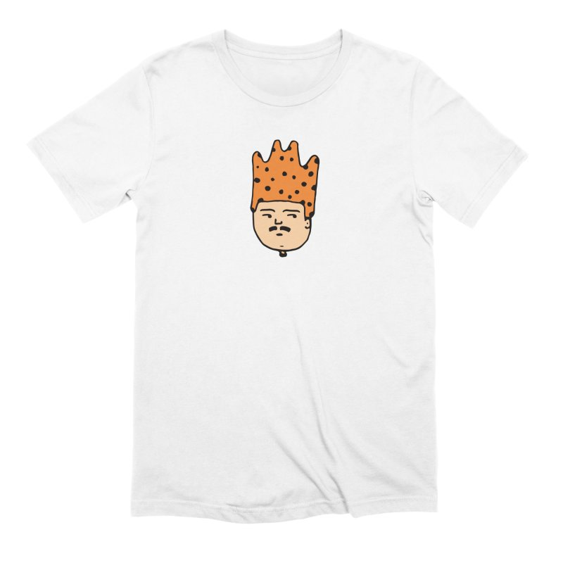 King Mustache in Men's Extra Soft T-Shirt White by Arto Jegas Store