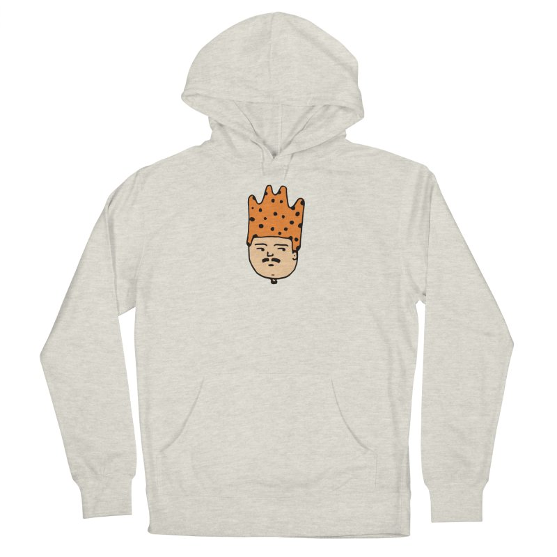 King Mustache Men's French Terry Pullover Hoody by Arto Jegas Store