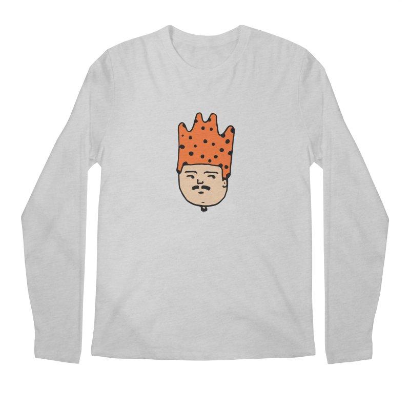 King Mustache Men's Regular Longsleeve T-Shirt by artojegas's Artist Shop