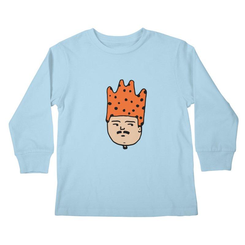 King Mustache Kids Longsleeve T-Shirt by artojegas's Artist Shop