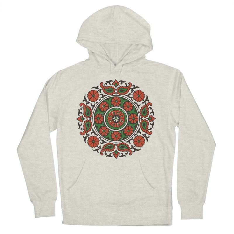Mandala Red/Green Women's Pullover Hoody by Art On Everything