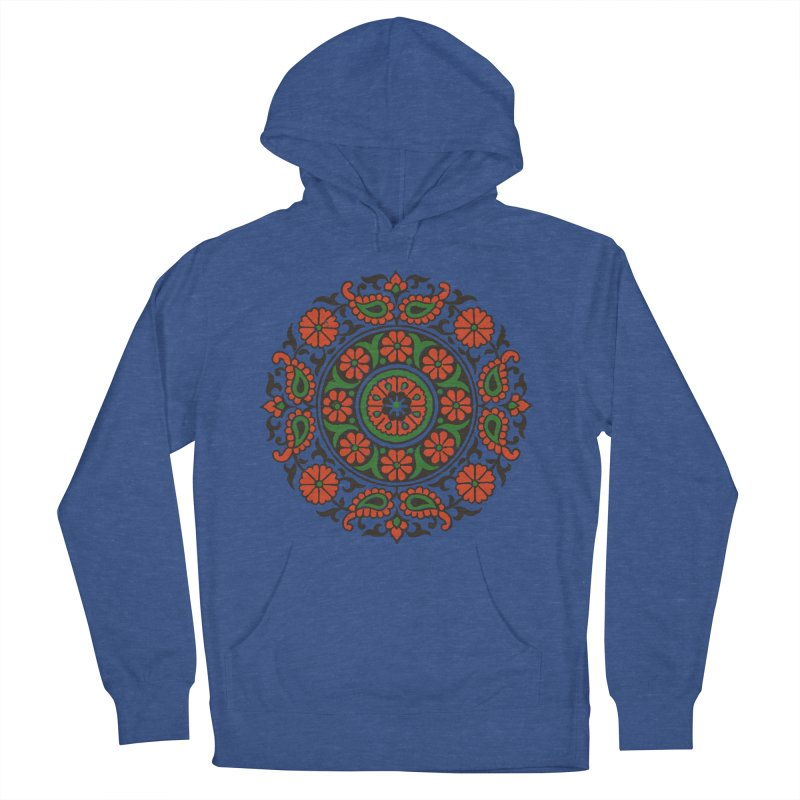 Mandala Red/Green Men's Pullover Hoody by Art On Everything