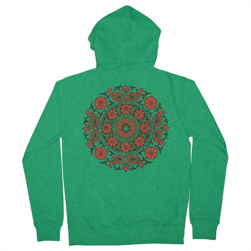 Mandala Red/Green Women's Zip-Up Hoody by Art On Everything