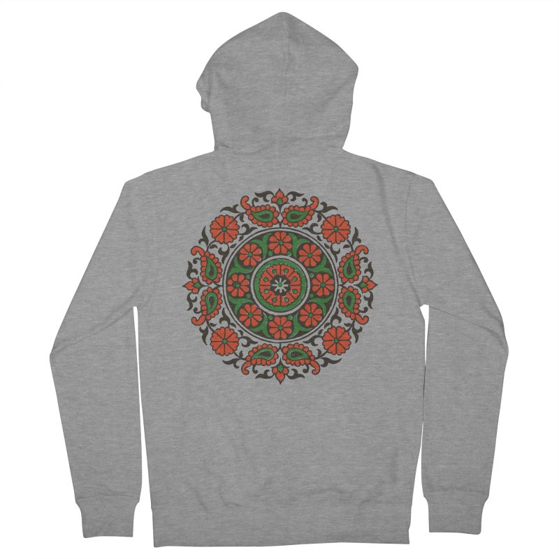 Mandala Red/Green Women's Zip-Up Hoody by Art On Everything