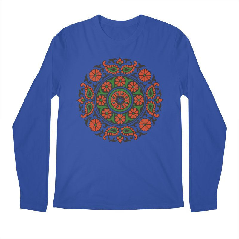 Mandala Red/Green Men's Regular Longsleeve T-Shirt by Art On Everything