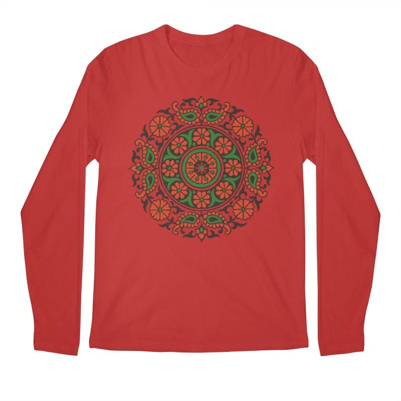 Mandala Red/Green Men's Longsleeve T-Shirt by Art On Everything