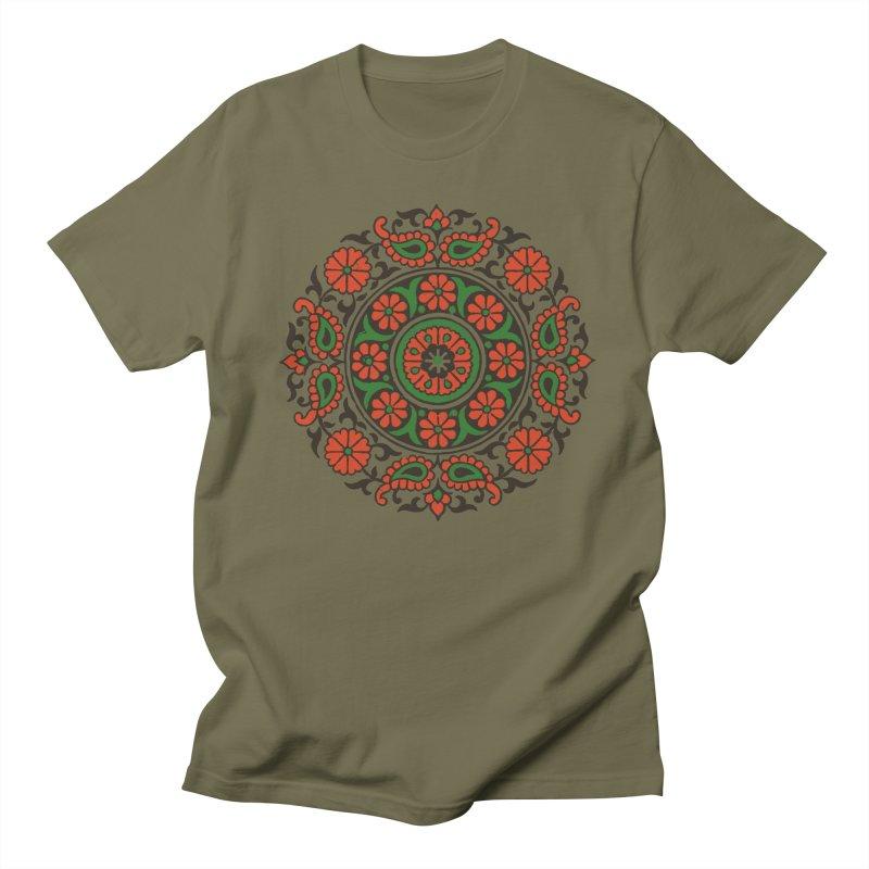 Mandala Red/Green Women's Unisex T-Shirt by Art On Everything