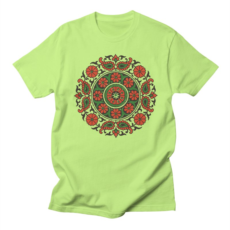 Mandala Red/Green Men's T-Shirt by Art On Everything