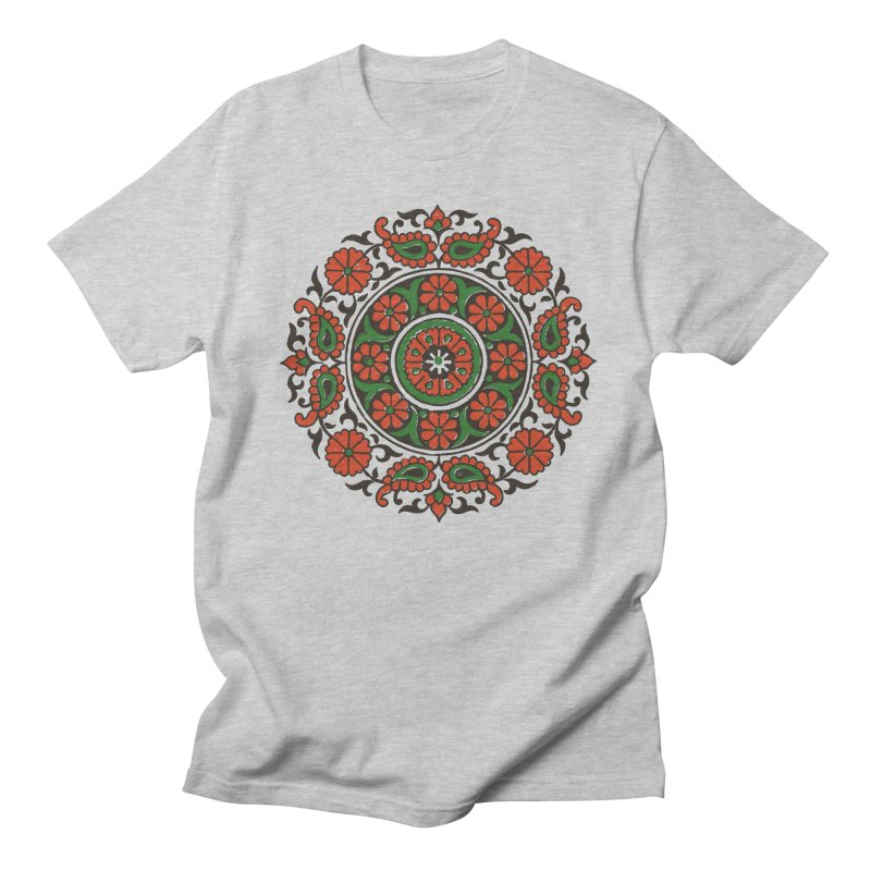 Mandala Red/Green Men's T-shirt by Art On Everything