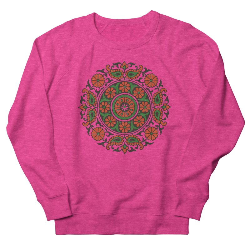 Mandala Red/Green Men's Sweatshirt by Art On Everything