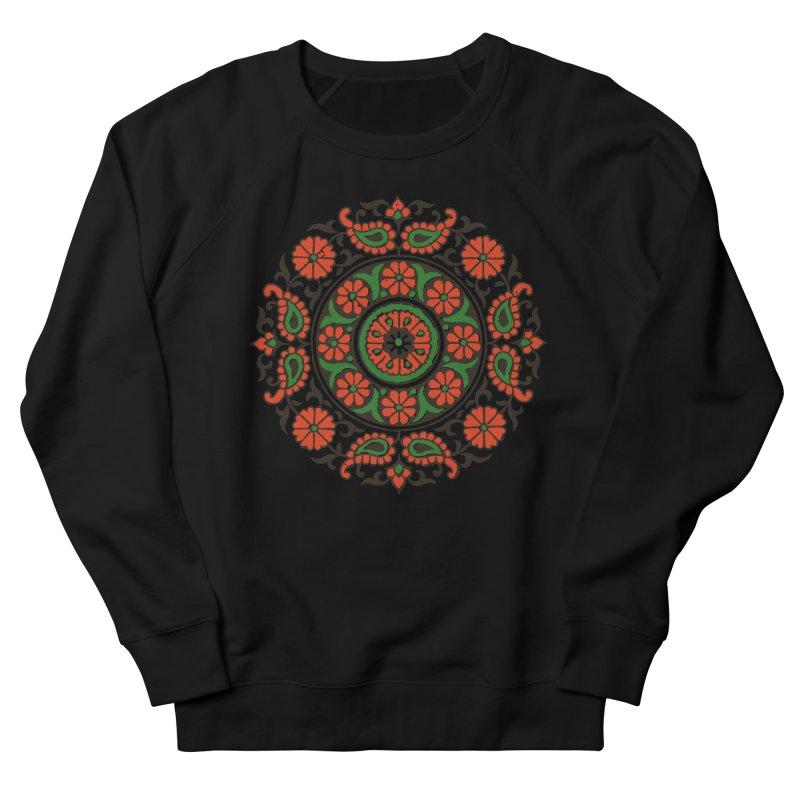 Mandala Red/Green Men's Sweatshirt by Art On Everything