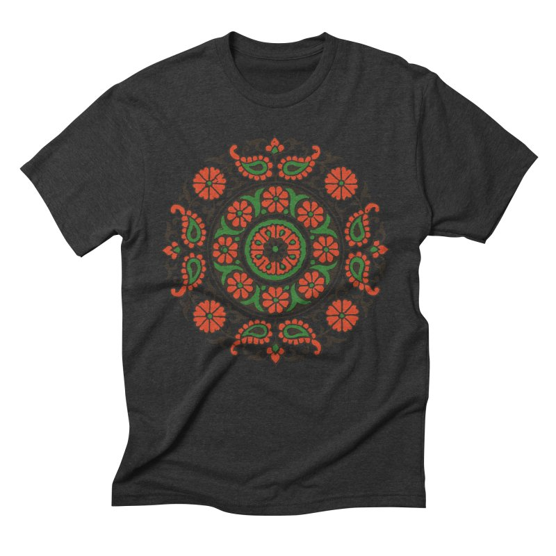Mandala Red/Green Men's Triblend T-shirt by Art On Everything
