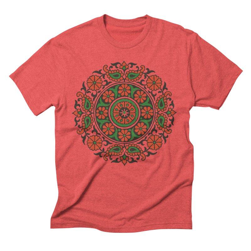 Mandala Red/Green Men's Triblend T-shirt by Art On Everything