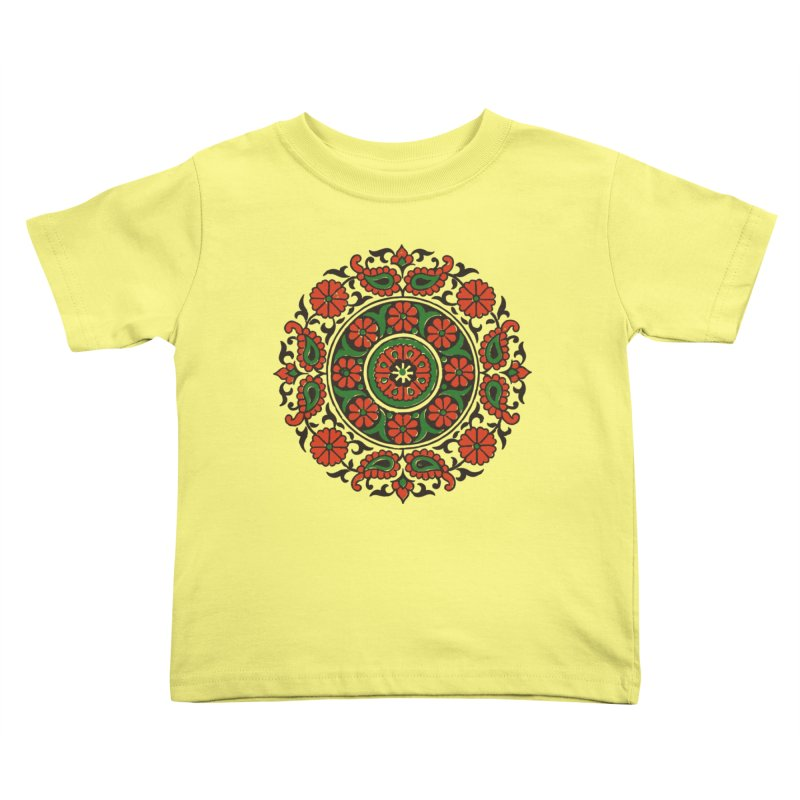 Mandala Red/Green Kids Toddler T-Shirt by Art On Everything