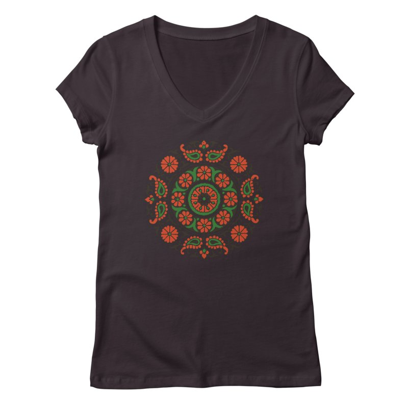 Mandala Red/Green   by Art On Everything