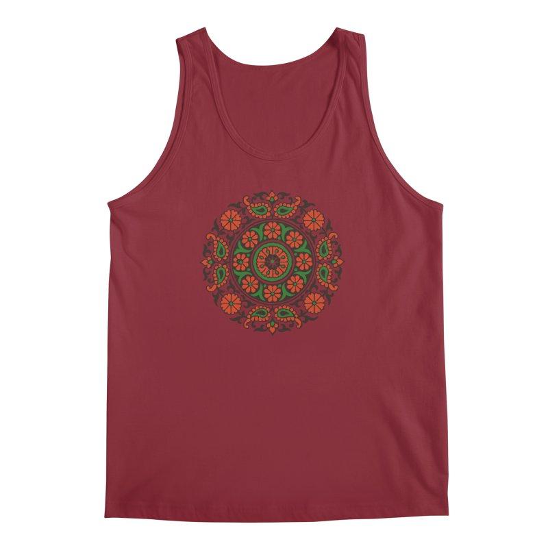 Mandala Red/Green Men's Tank by Art On Everything