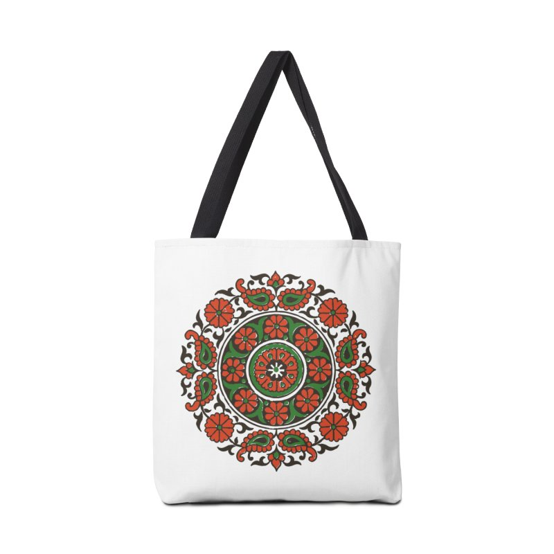 Mandala Red/Green Accessories Bag by Art On Everything