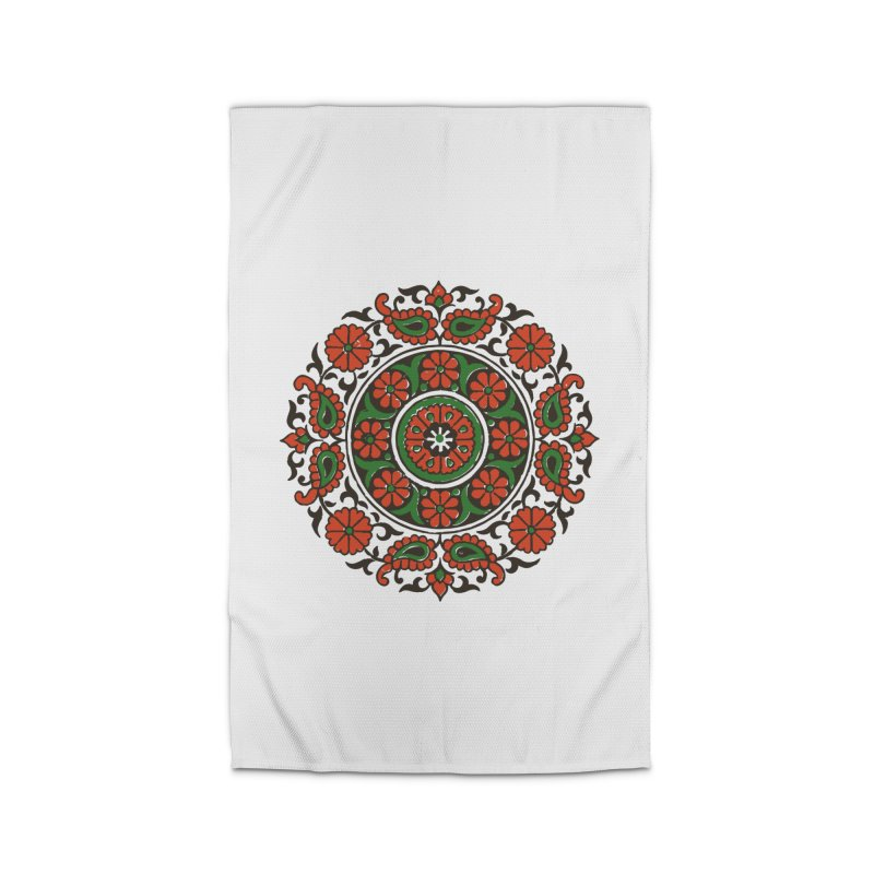 Mandala Red/Green Home Rug by Art On Everything