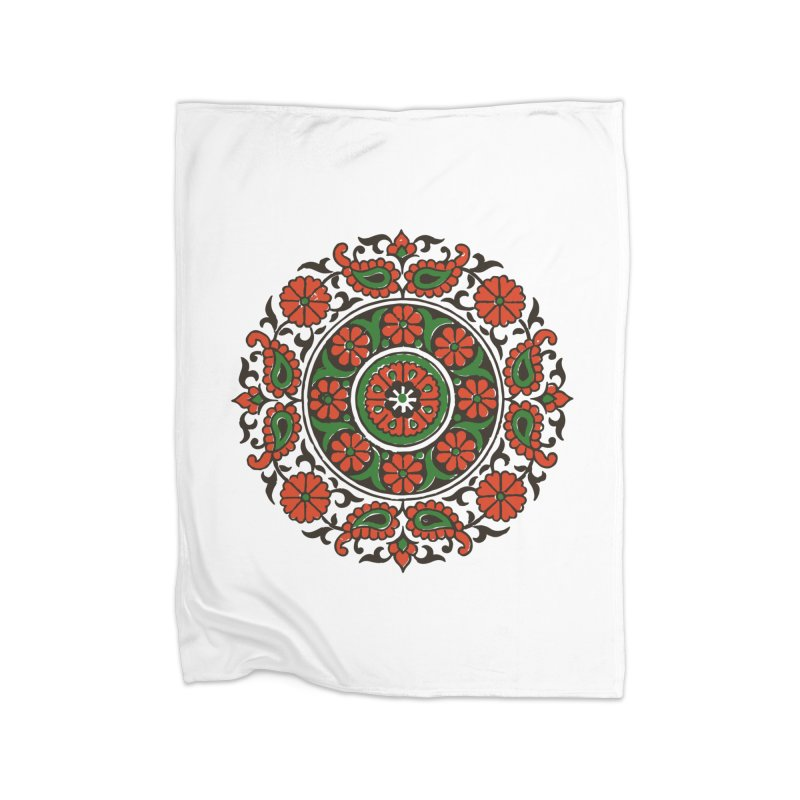 Mandala Red/Green Home Blanket by Art On Everything