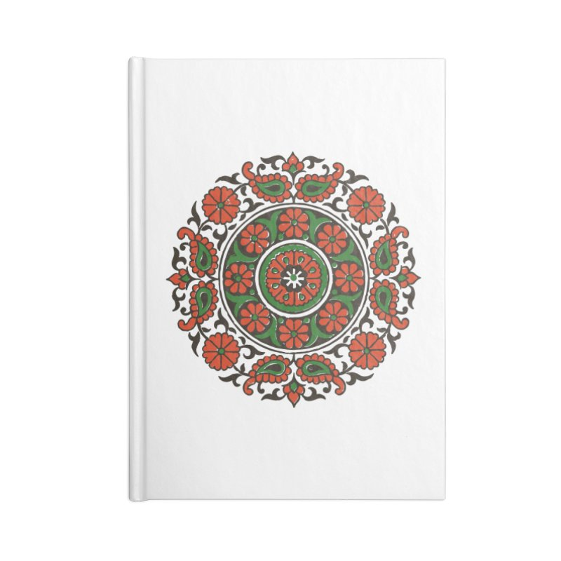 Mandala Red/Green Accessories Notebook by Art On Everything