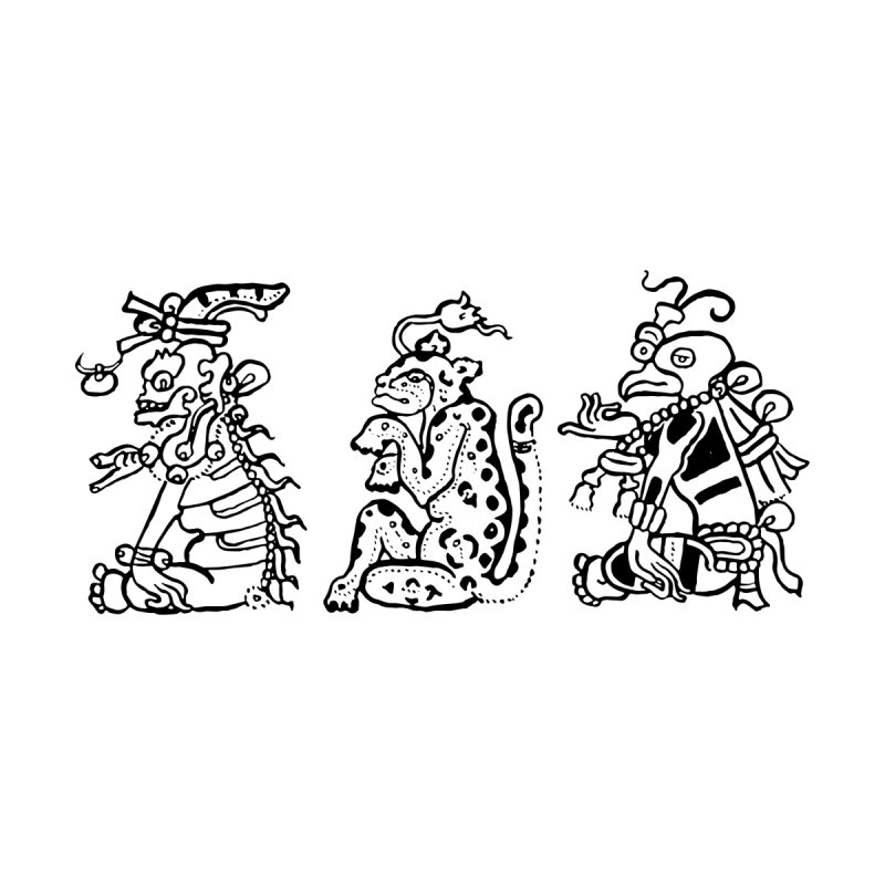 Mayan Figures   by Art On Everything