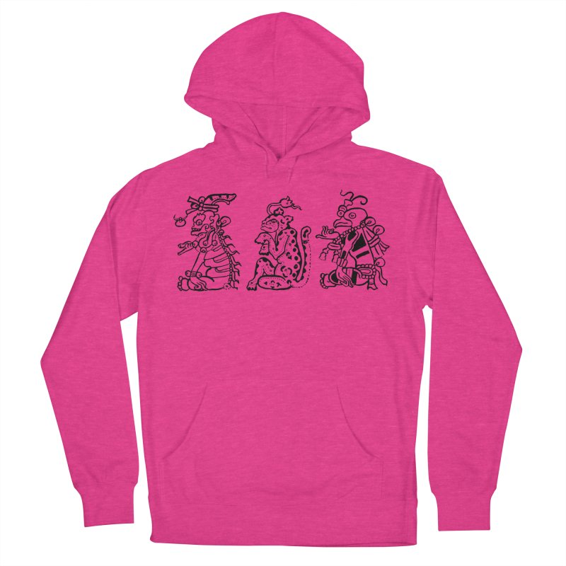 Mayan Figures Women's French Terry Pullover Hoody by Art On Everything
