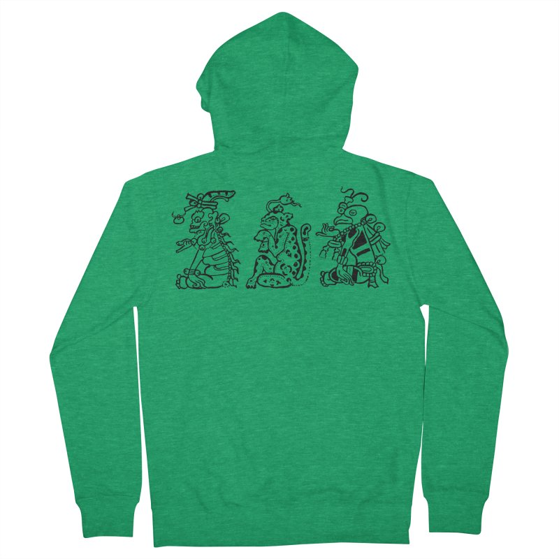 Mayan Figures Women's Zip-Up Hoody by Art On Everything