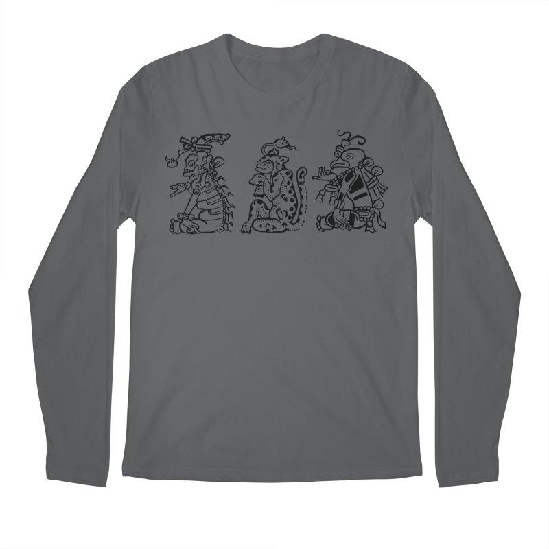 Mayan Figures Men's Longsleeve T-Shirt by Art On Everything