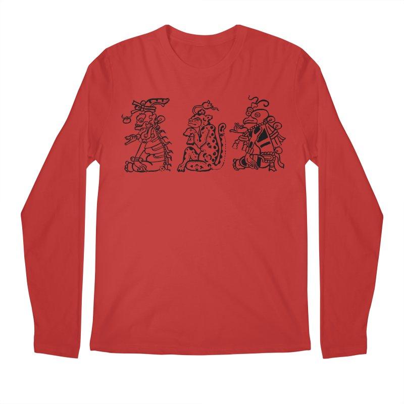 Mayan Figures Men's Regular Longsleeve T-Shirt by Art On Everything