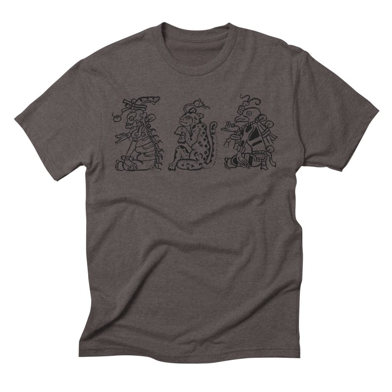Mayan Figures Men's Triblend T-Shirt by Art On Everything