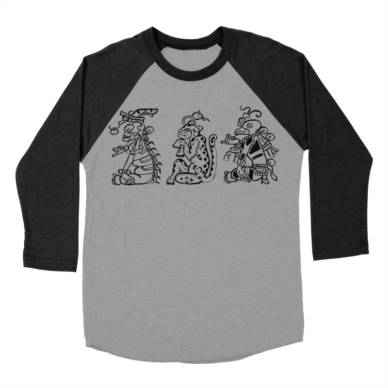 Mayan Figures Women's Baseball Triblend T-Shirt by Art On Everything