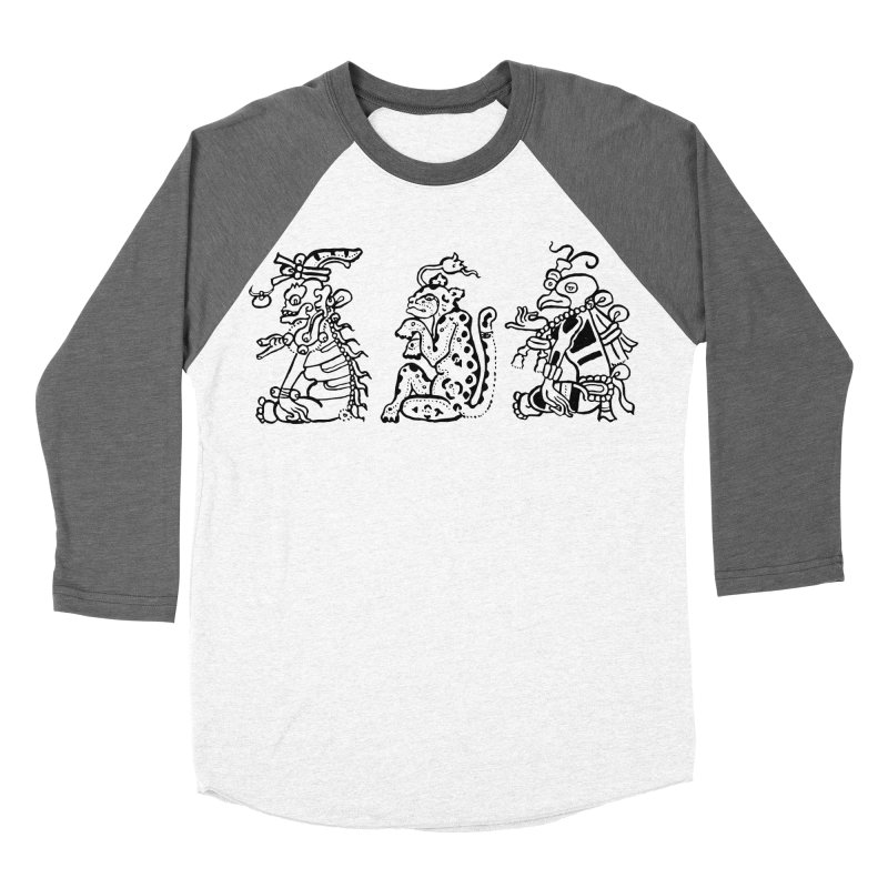 Mayan Figures Men's Baseball Triblend T-Shirt by Art On Everything