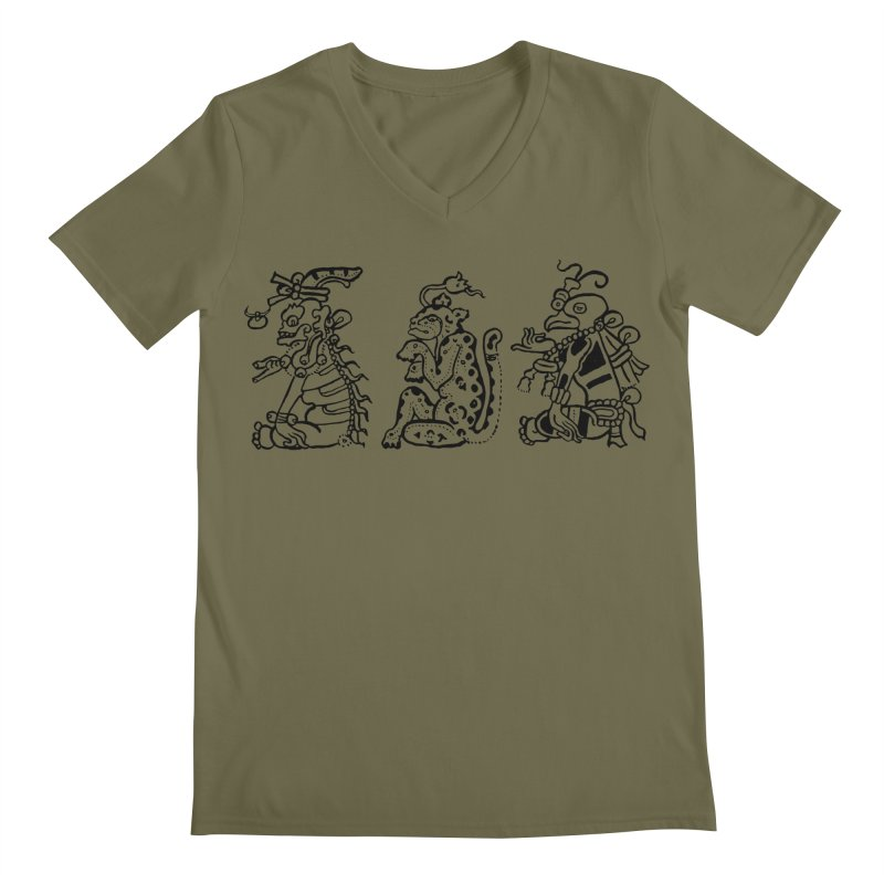 Mayan Figures Men's V-Neck by Art On Everything