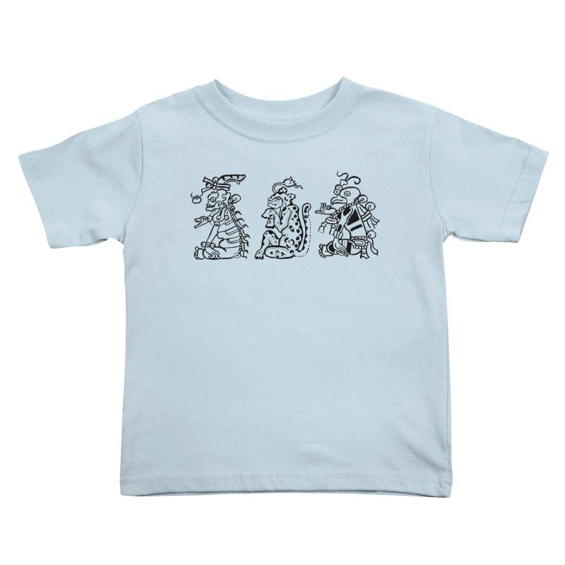 Mayan Figures Kids Toddler T-Shirt by Art On Everything