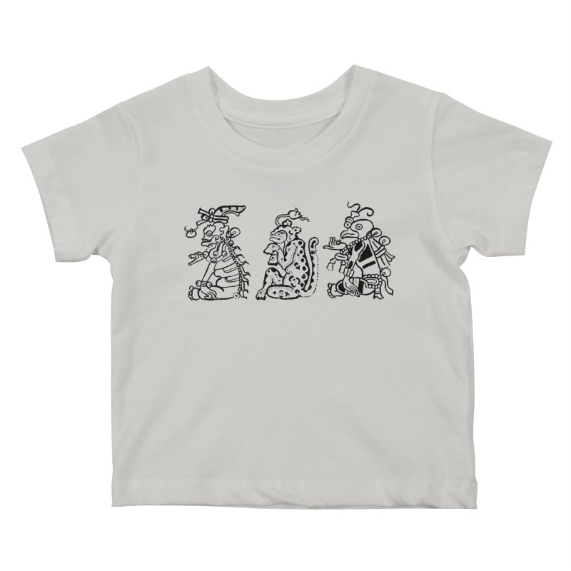 Mayan Figures Kids Baby T-Shirt by Art On Everything