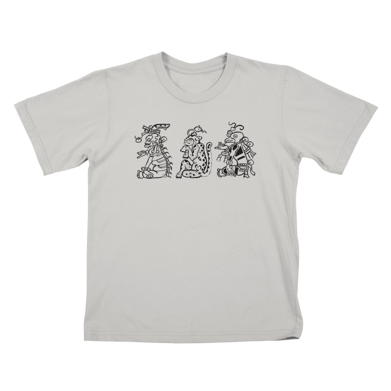 Mayan Figures Kids T-shirt by Art On Everything