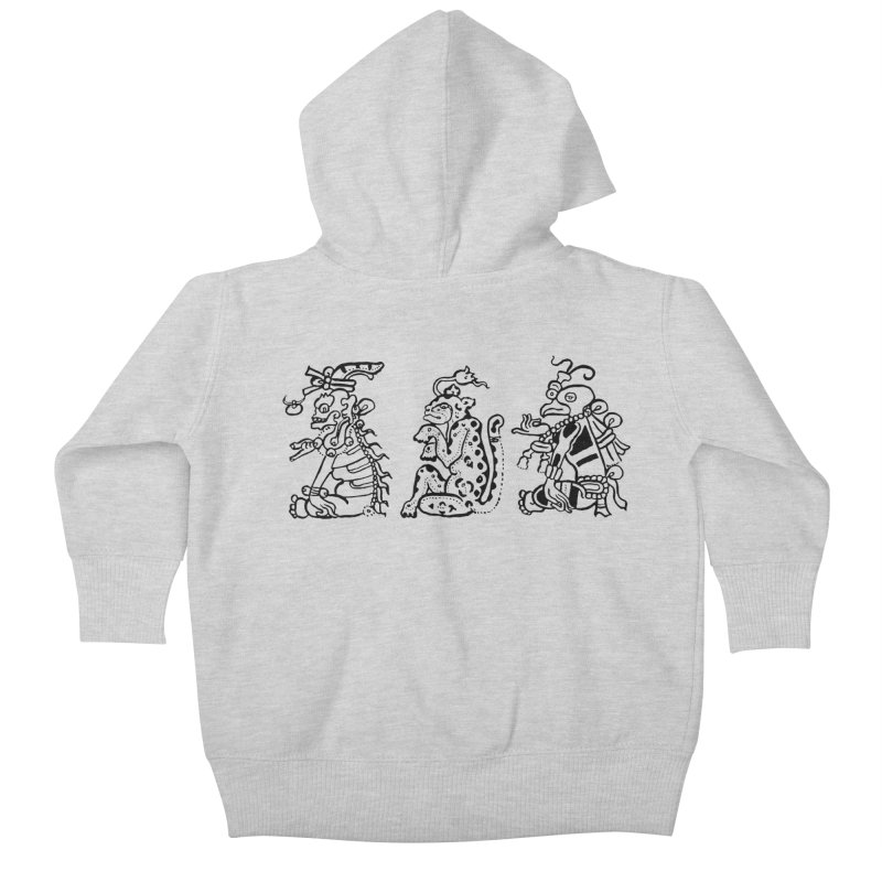 Mayan Figures Kids Baby Zip-Up Hoody by Art On Everything