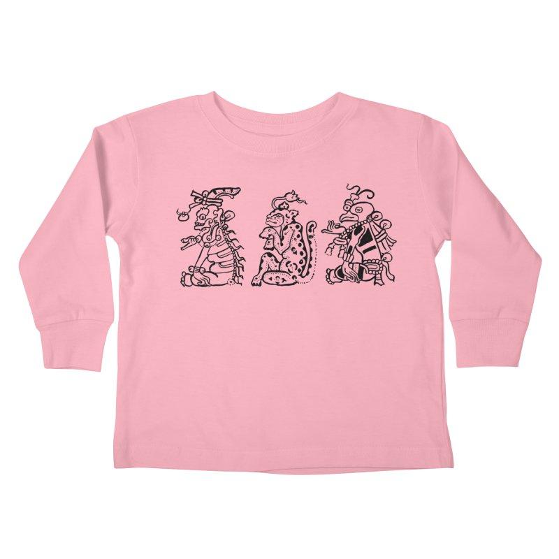 Mayan Figures Kids Toddler Longsleeve T-Shirt by Art On Everything