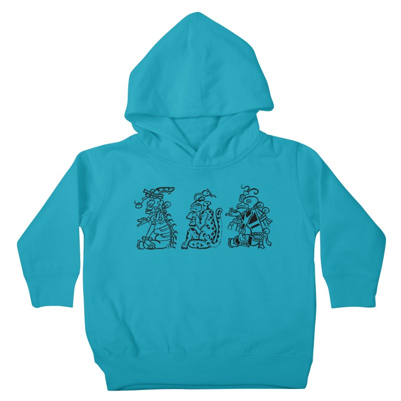 Mayan Figures Kids Toddler Pullover Hoody by Art On Everything