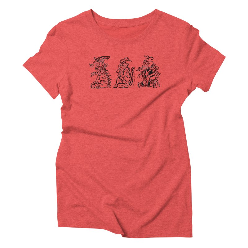 Mayan Figures Women's Triblend T-shirt by Art On Everything