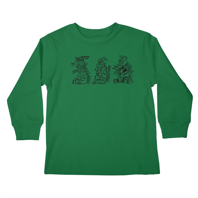 Mayan Figures Kids Longsleeve T-Shirt by Art On Everything