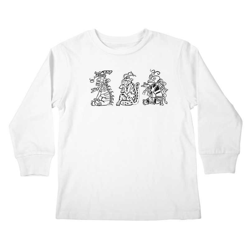 Mayan Figures Kids Longsleeve T-Shirt by Art On Everything