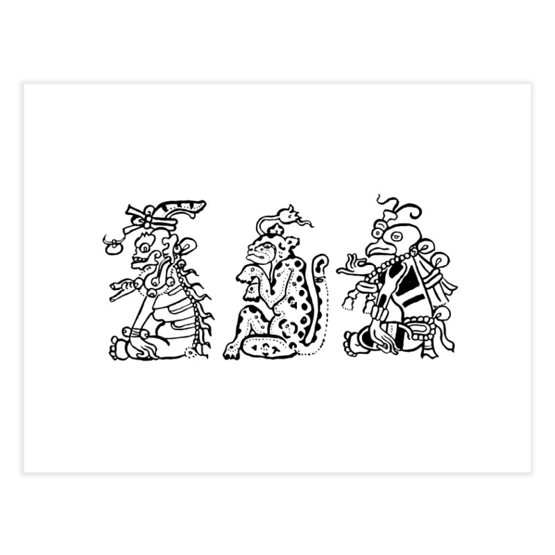 Mayan Figures Home Fine Art Print by Art On Everything