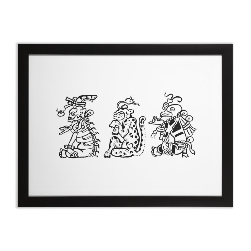 Mayan Figures Home Framed Fine Art Print by Art On Everything