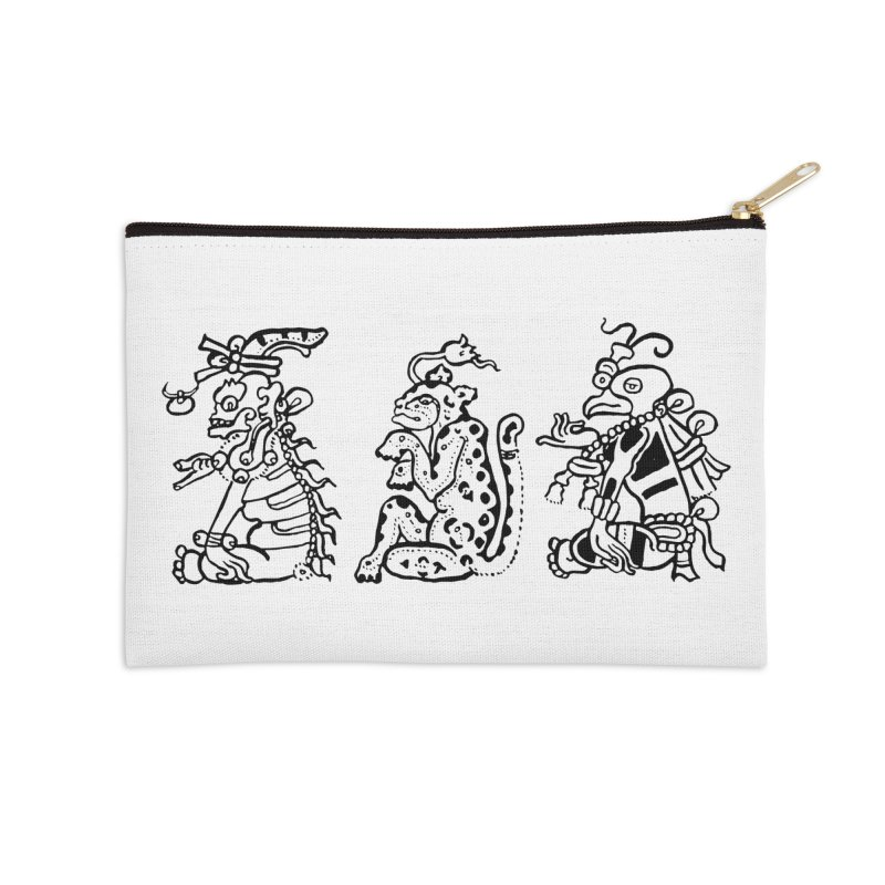 Mayan Figures Accessories Zip Pouch by Art On Everything