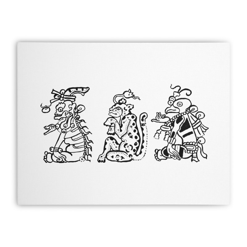 Mayan Figures Home Stretched Canvas by Art On Everything