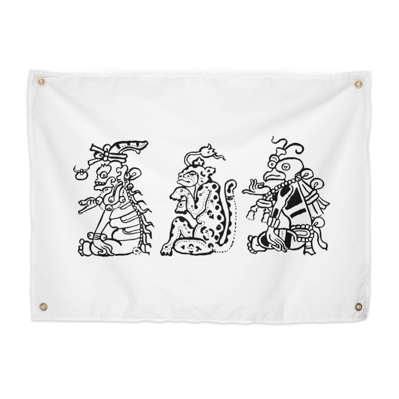 Mayan Figures Home Tapestry by Art On Everything